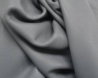 "Graceful Deep Grey ""Signature"" 27.1 sf  2 1/2-3 oz Leather Cow hide side DE-63610 (Sec. 9,Shelf 2,A)"
