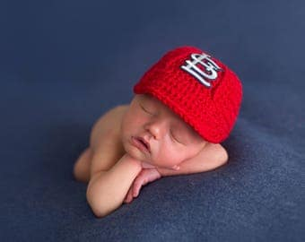 St Louis Cardinals baby hat