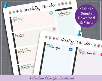 Routine Chore Chart for Adults - Instant Download - Printable - Help keep track of your daily/weekly routine!