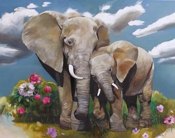 "Fine Art Print of ""The Elephants"""