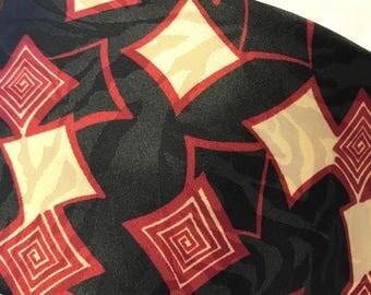 V355 Oleg Cassini, polyester blend, made in USA ,print tie