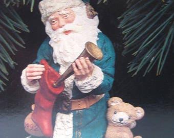 Merry Olde Santa Hallmark Keepsake Ornament Collectors Edition Number 3 / Christmas Ornament / Collectible Ornament