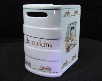 Vintage 1988 Royal Doulton Bunnykins Bank, Piggy Bank, Baby Money Bank, Vintage Nursery Decor, Coin Bank, Ceramic Bank