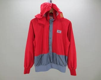 Nordica Windbreaker Vintage Nordica Hoodie Jacket Nylon Men's Size M