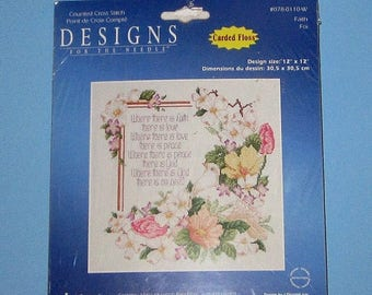 SALE Janlynn Designs Counted Cross Stitch Faith 078-0110-w New Sealed Package 12 x12
