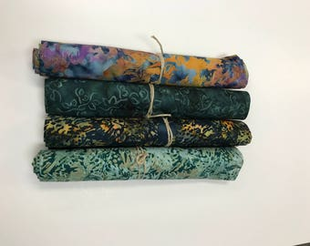 MAJESTIC BATIK BUNDLE - 4 Yards of Batiks from Majestic Batiks - Greens  #4