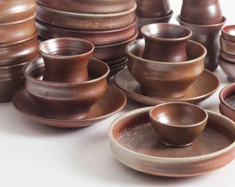 Stoneware Dishes, Set Of 6 Plate Sets, Dining, Kitchen, Ceramic Dishes,