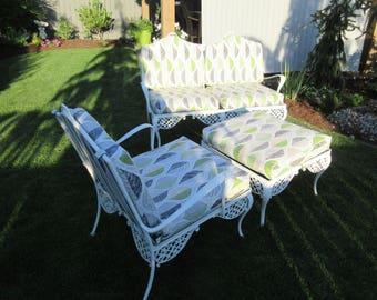 Retro Aluminum Patio Furniture vintage patio furniture | etsy
