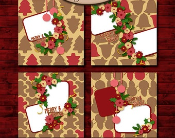 Digital Scrapbooking, Layout Template: Merry & Bright
