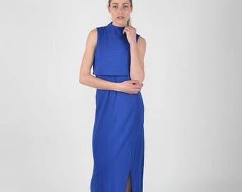 Womens Long Bamboo Cotton Lycra Dress, Plus size.