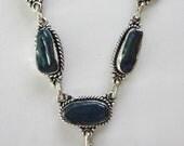 "SPRING FLING SALE Stunning Japanese Freshwater Cultured ""Biwa"" Pearl Necklace  Handmade 925 Sterling Silver 18.5"""
