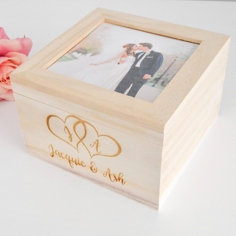 Personalized Wedding Box Rustic Wedding Wood Box Gift Box