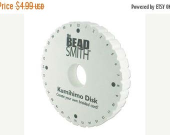 Summer Sale Round KUMIHIMO DISK, 6 Inch, The BeadSmith, Extra Thick Foam Boards, Kumihimo Braiding Disc, Create Kumihimo Cords
