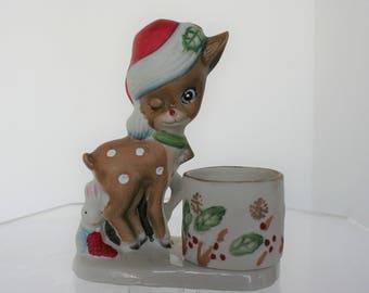 Christmas Deer Votive Candle Holder.