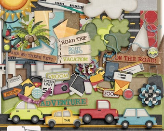 On The Go Travel Digital Scrapbook Kit