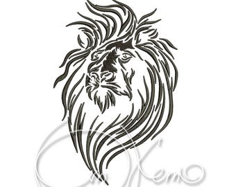 MACHINE EMBROIDERY DESIGN - Lion
