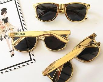 Bachelorette Party Sunglasses Bride Tribe Sunglasses Gift Glasses Bachelorette Sunglasses Bachelorette Party Favors Metallic Gold Sunglasses