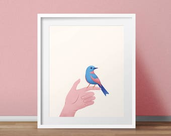 Bird in the Hand Art Print