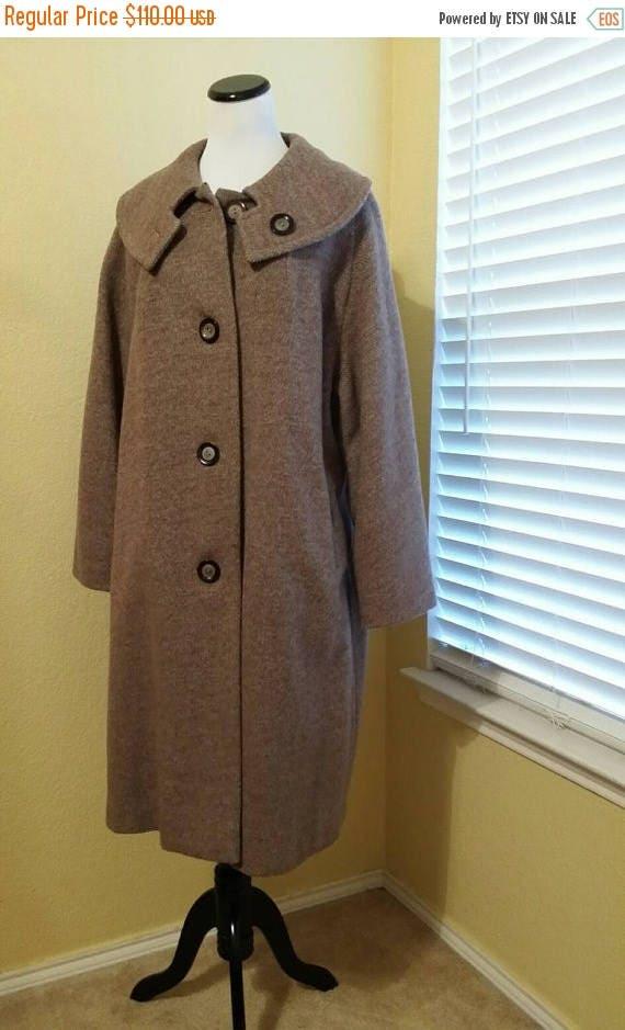 CYBER MONDAY Full Figure Women's Vintage Shawl Collar Overcoat