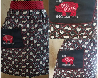 Pig Butts Half apron for women