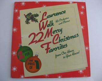 Lawrence Welk  & His Chorus and Orchestra - 22 Merry Christmas Favorites - Double Album Set - Circa 1983
