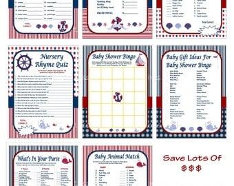 Nautical Baby Shower Game, Printable Nautical Game, Nautical Shower Game, DIY Nautical Game, Anchor Baby Shower Game -Printables 4 Less 0062