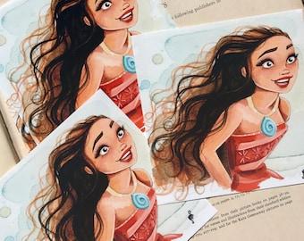 "Ocean Princess 4x4"" Fine Quality Print."