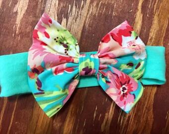 Tropic Floral Headband Bow
