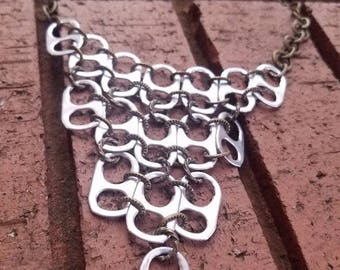 Recycled Soda Can Tab Bib Necklace