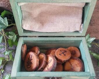 Apple Witches Runes, Witches Runes, Wood Runes, Rune Set, Divination, Druid, Wooden Runes, Apple Wood, Witch Rune Set