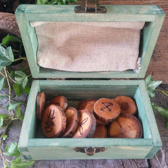 Apple Witches Runes, Witches Runes, Wood Runes, Rune Set, Divination, Druid, Wooden Runes, Apple Wood, Witch Rune Set