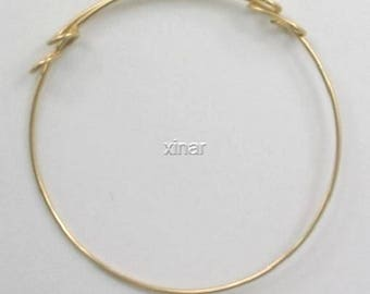 14K Gold Fill 70mm Adjustable Bangle Cuff Bracelet