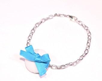 Mint button bracelet