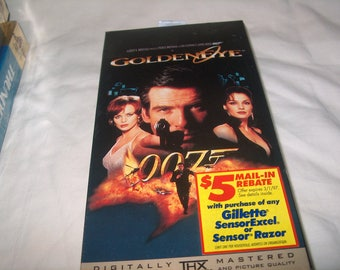 Vintage VHS Movie, James Bond 007, Factory Sealed, Golden Eye, 1995