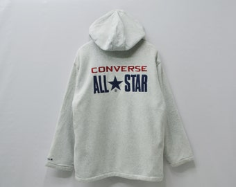 Converse Jacket Converse Sweater Mens Size L Converse All Star Vintage Converse All Star Big Logo Fleece Activewear Jacket Mens Size L