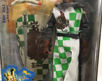 "Vintage unopened Eric Idle As Sir Robin 12"" Action Figure - Monty Python and the Holy Grail First Series"