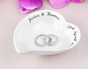 Personalised Ceramic Ring Dish