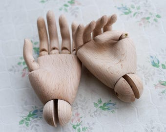Wood Hands Pair - Child Mannequin Hand