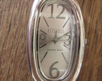 Sterling Silver Eclissi Oval Large Watch Case (549)