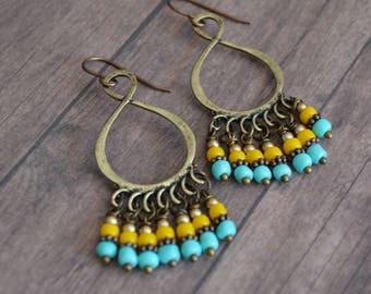 Gipsy Style Earrings. Boho Earrings. Bohemian Style Dangles. Gift For Her. Gift Idea. Boho Earrings Under 20 Dollar. Dangle Earrings.