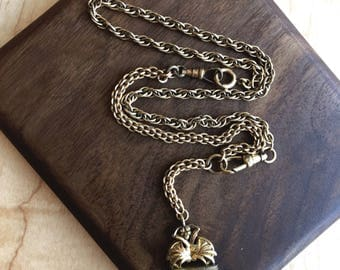 19th Century Gold-Filled Lariat Necklace