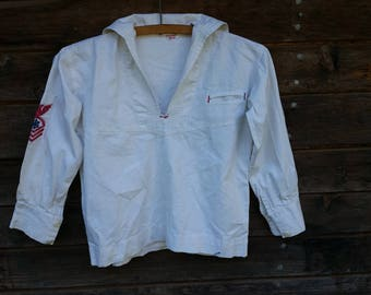 ANTIQUE CHILDRENS SAILOR Jumper or Shirt, B34""