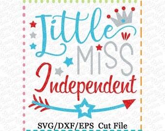 EXCLUSIVE  Little Miss Independent Patriotic Cutting File, little miss svg cut file,  patriotic princess svg, miss independence svg