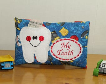 Boys Tooth Fairy Pillow - Paramedic gift  - Paramedic Pillow - Tooth Pillow Gift - Boys Tooth Pillow - Fairy Dust - Tooth Certificate -
