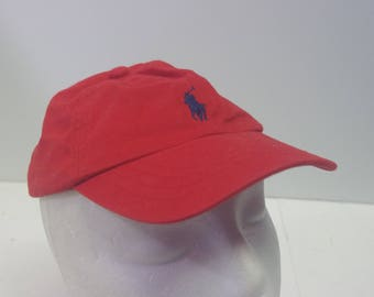 90s Kids Polo Ralph lauren red hat cap