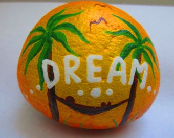 "Painted rock ""DREAM"""