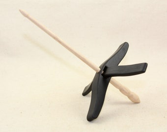 Ebony Medium Glider Turkish Drop Spindle