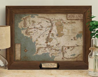 Lord of the Rings (Middle Earth) - Giclée Map