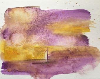 Sail Away Watercolor PRINT