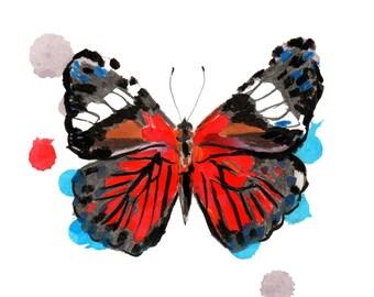 """Card """"Butterfly"""" + Kraft envelope"""